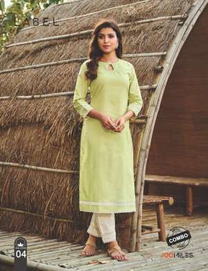 100 miles LABEL KURTI WITH PANT 1