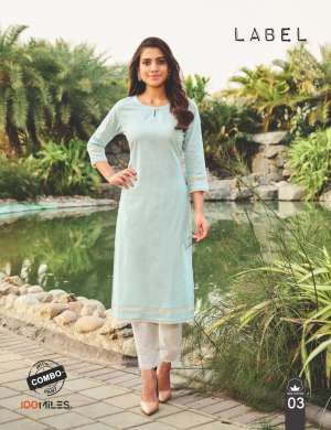 100 miles LABEL KURTI WITH PANT 2