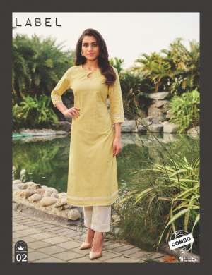 100 miles LABEL KURTI WITH PANT 3