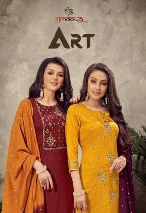 AMAAYA ART KURTI WITH BOTTOM AND DUPATTA