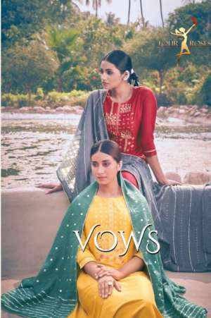FOUR ROSES VOWS KURTI WITH BOTTOM AND DUPATTA