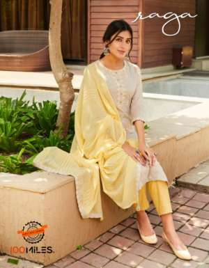 100 MILES RAGA TOP WITH PENT AND DUPATTA
