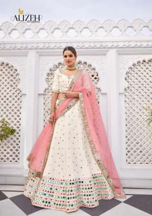 ALIZEH MIRROR MAZE D NO 1013 SILK REGAL LOOK LEHENGA SINGAL  PRICE 8885+ 5% G.S.T Extra