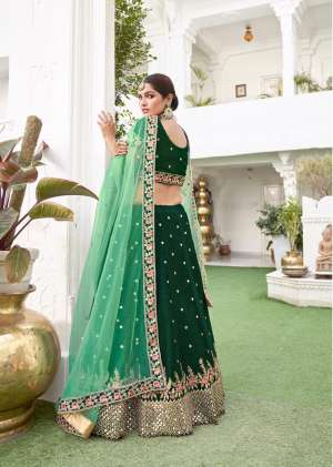 ALIZEH MIRROR MAZE D NO 1014 SILK CATCHY LOOK LEHENGA SINGAL  PRICE  8885+ 5% G.S.T Extra