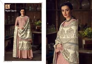 Alok Suit Mughal Queen 001-008 series 4320 + 5% Gst Extra Wool Pashmina elegant look salwar suit catalog