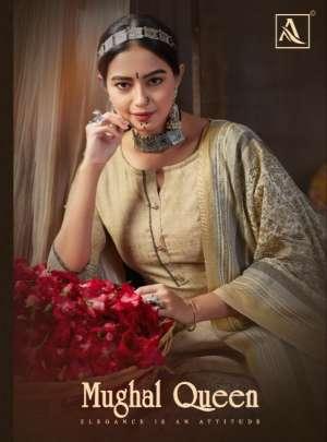 Alok Suit Mughal Queen vol 2 001-008 series 4320 + 5% Gst Extra Wool Pashmina astonishing salwar suit catalog