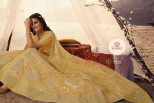 euphoria vol 7 5501-5508 series 38792 by arya organza embroidery bridal wedding lehanga