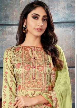 bipson elegance 1003-1006 series 3380 + 5% Gst Extra tussar silk printed salwar kameez