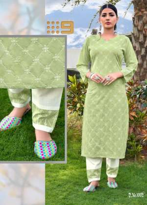 channel 9 SHALEEN KURTI WITH PANT 1002