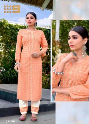 channel 9 SHALEEN KURTI WITH PANT 1003
