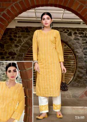 channel 9 SHALEEN KURTI WITH PANT 1006