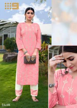 channel 9 SHALEEN KURTI WITH PANT 1007