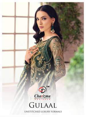 Charizma designer gulaal 89001-89004 series 4796 + 5% Gst Extra heavy net regal look salwar suit catalog