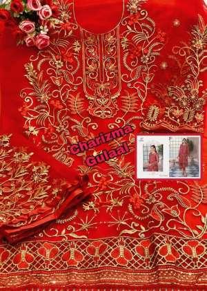 Charizma Designer gulaal Duptta tabby & havey net embroidery work 89001