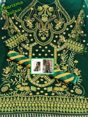 Charizma Designer gulaal Duptta tabby & havey net embroidery work 89002
