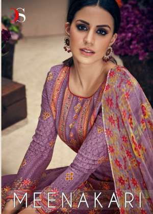 Deepsy suits meenakari exclusive 1001-1006 series 4794 + 5% Gst Extra print with embroidery salwar suit catalog