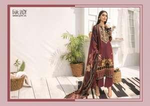 Fairlady Baroque jam 4001-4006 series 4074 + 5% Gst Extra satin authentic fabric salwar suit catalog