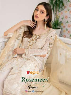 FEPIC ROSEMEEN FLORENCE 90001-90007 series 8393 + 5% Gst Extra GEORGETTE REGAL LOOK SALWAR SUIT CATALOG