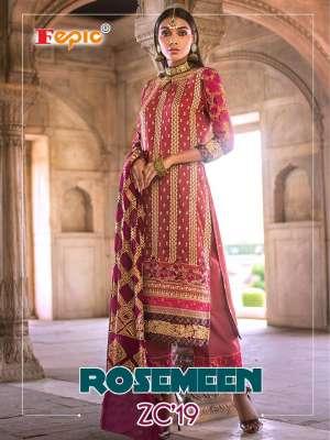 Fepic rosemeen zc 19 62001-62004 series 5396 + 5% Gst Extra Pakistani style dress Material wholesaler