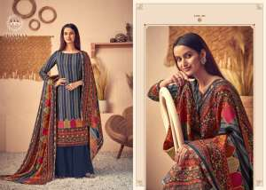 harshit fashion by alok suits pranikaa 001-010 series 4400 + 5% Gst Extra wool pashmina digital style print sacual suits