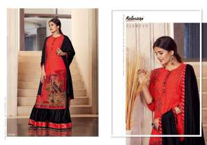Kalaroop venue top with lehenga and chifon dupatta 12164
