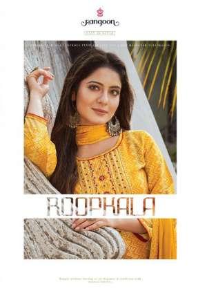 rangoon roopkala 2611-2614 series 3596 + 5% Gst Extra rayon new and moden style kurti plazzo with dupatta catalog