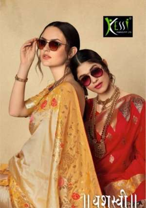 kessi present yashasvi 3131-3138 series 19192 + 5% Gst Extra silk jacquard traditional wear looking stunning saree