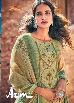 laxmimaya azm 1238-1245 series 7880 + 5% Gst Extra pashmina gorgeous look salwar suit catalog