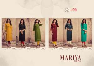 lilly style of india MARIYA WITH PENT 1031
