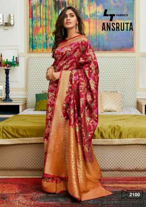 l t fashion ansruta 2101-2104 series 3975 + 5% Gst Extra cotton silk gorgeous look saree catalog