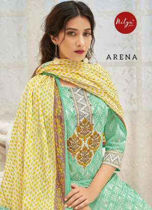 Lt nitya arena 101-108 series 7992 + 5% Gst Extra embroidered kurti with pants and dupatta Wholesaler