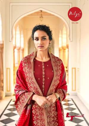 LT NITYA VOL 165 65001-65006 series 11280 + 5% Gst Extra DOLA JAQUARD ASTONISHING STYLE SALWAR SUIT CATALOG