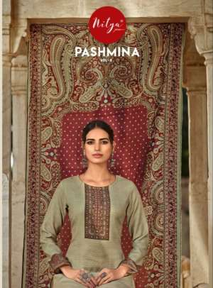 l t nitya pashmina vol 5 501-507 series 6825  + 5% Gst Extra  gorgeous look salwar suit catalog