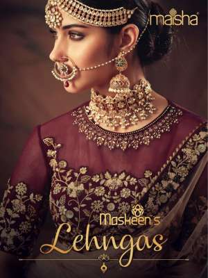 Maisha Maskeen's 10001-10005 Series 25475 12% +GST ExtraLehngas Heavy Embroidered Silk Velvet Georgette Bridal Lehengas Collection For the Wedding Season