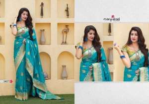 manjuba maithili silk 3401-3410 series 17300 gorgeous silk designer saree