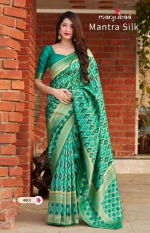 Manjubaa Clothing MANTRA SILK D NO 4801 4802