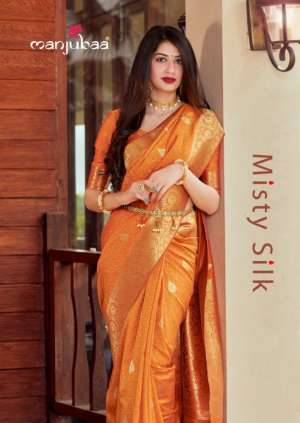 MANJUBAA CLOTHING MISTY SILK SERIES 4401 TO 4410 15450 + 5% Gst Extra ELEGANT SAREE CATALOG