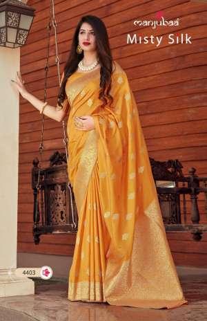 MANJUBAA CLOTHING MISTY SILK SERIES 4401 TO 4410 4414