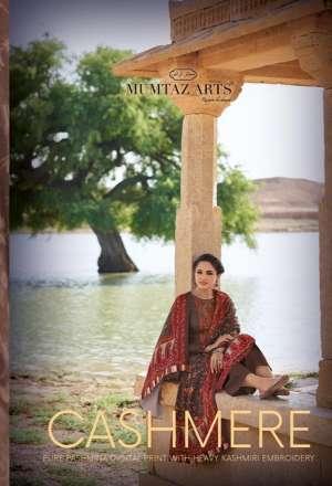 Mumtaz arts rangon ki duniya 5001-5010 series 6930 + 5% Gst Extra cashmere pashmina decent kashmiri embroidery salwar suit catalog