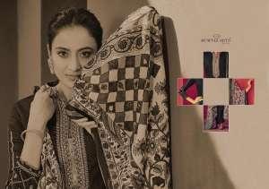 Mumtaz arts rangon ki duniya 6001-6006 series 4494 + 5% Gst Extra jamdani hit list jam satin authentic fabric salwar suit catalog