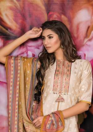 naariti gulshan chanderi 2530-2534 series 6975 + 5% Gst Extra embroidery unique collections for salwar suits wholesaler