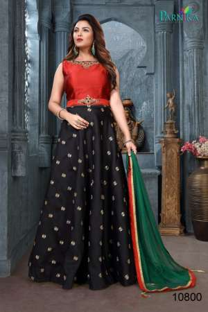 Parnika presenting series 10800 western look Lehengha crop top with skirt concept