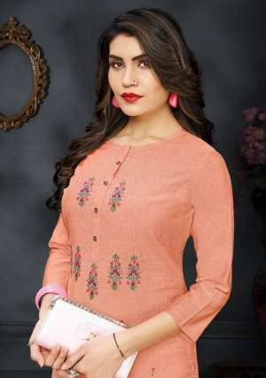 Pink mirror ira kurti with pant 1005