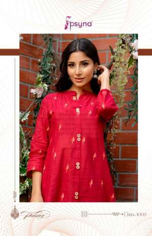 Psyna Paisley 1001-1010 series 3990 + 5% Gst Extra modern and Stylish classic trendy fits Kurties