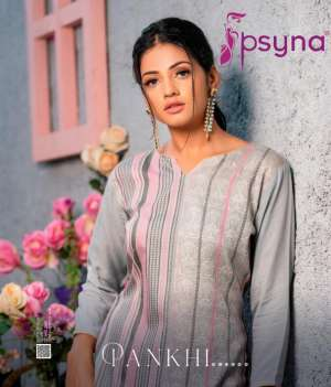 Psyna pankhi rayon 1001-1010 series 4500 + 5% Gst Extra attractive style kurti catalog