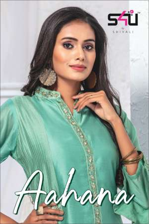 S4u by shivali aahana 001-008 series 7400 + 5% Gst Extra beautiful silk kurties festive wear collection