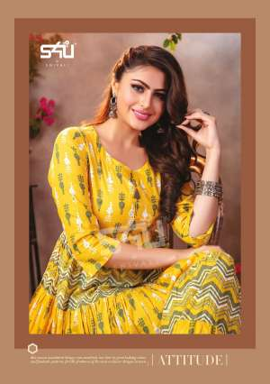 S4u by Shivali Flairy Tales Vol 3 301-308 series 5880 + 5% Gst Extra beautiful flare gown catalog