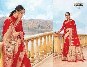 Sangam Prints RED ROSE 1004