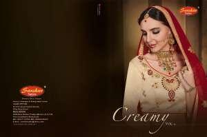 SanskarSareespressnts creamy vol 2 3720-3729 Series festival season beautiful lehengha collection
