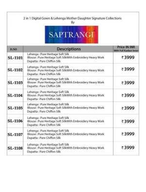 Saptrangi SAPTRANGI 1101-1108 1110
